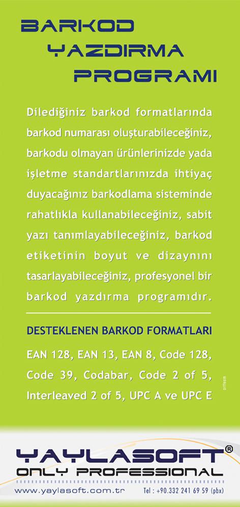 YAYLASOFT_Barkod Yazdırma Programı Broşürü